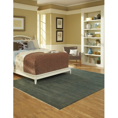 Phoenix Hand Knotted Wool Aqua Area Rug Rug Size: 86 x 116