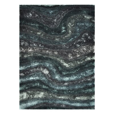 Kos Hand-Tufted Black/Blue Area Rug Rug Size: Rectangle 710 x 11