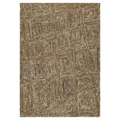 Zager Hand-Tufted Mocha Area Rug Rug Size: Rectangle 36 x 56