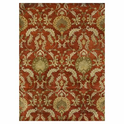 Fulton Hand Woven Persimmon Red Area Rug Rug Size: 36 x 56