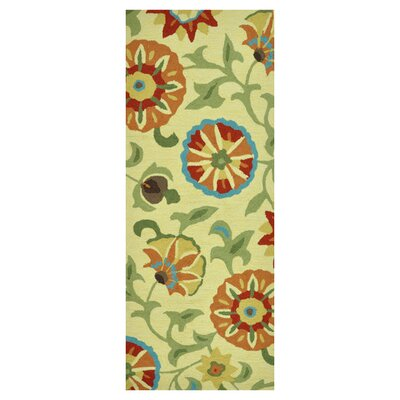 Summerton Hand-Hooked Buttercup Area Rug Rug Size: Rectangle 2 x 5