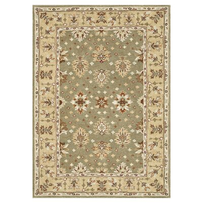 Fairfield Sage/Cream Area Rug Rug Size: 76 x 96