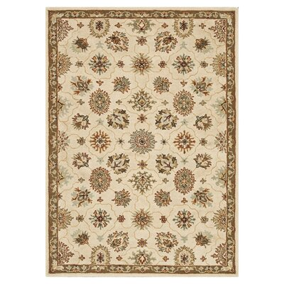 Fairfield Hand-Tufted Ivory/Taupe Area Rug Rug Size: 7'6