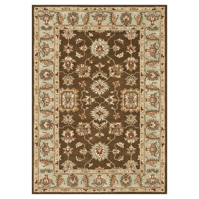 Fairfield Hand-Tufted Brown/Turquoise Area Rug Rug Size: 76 x 96