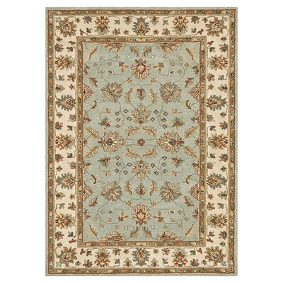 Fairfield Hand-Tufted Turquoise/Ivory Area Rug Rug Size: 76 x 96