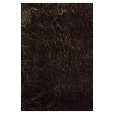 Dion Hand-Tufted Brown Area Rug Rug Size: 3 x 5