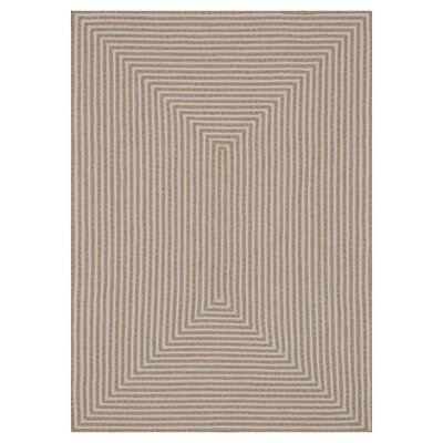 Kircher Hand-Woven Beige Indoor/Outdoor Area Rug Rug Size: Rectangle 5 x 76
