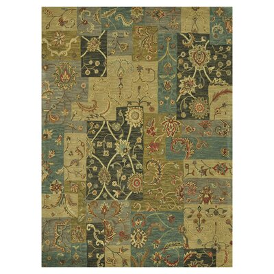 Maple Hand-Tufted Blue Area Rug Rug Size: 79 x 99