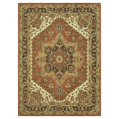 Maple Antique Hand-Tufted Rust Area Rug Rug Size: 8 x 11