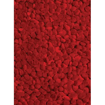 Frankie Hand-Woven Red Area Rug Rug Size: Rectangle 5 x 76