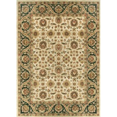 Elegante Hand-Tufted Brown/Ivory Area Rug Rug Size: 36 x 56