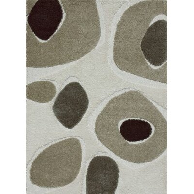 Enchant Gray/Ivory Area Rug Rug Size: 77 x 106