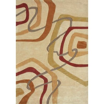 Electra Hand-Tufted Gold Area Rug Rug Size: Runner 23 x 76