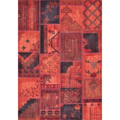Beymen Hand-Hooked Red Area Rug Rug Size: Rectangle 710 x 11