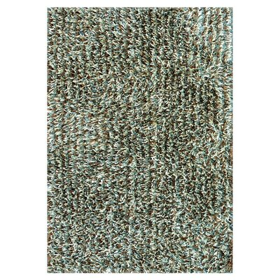 Ballif Hand-Tufted Blue/Mocha Area Rug Rug Size: Rectangle 36 x 56