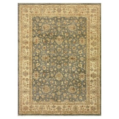 Majestic Hand-Knotted Smoke/Beige Area Rug Rug Size: Rectangle 12 x 15