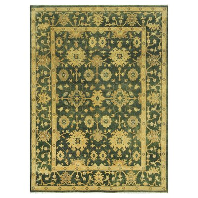 Kirtley Hand-Knotted Blue/Beige Area Rug Rug Size: Rectangle 96 x 136