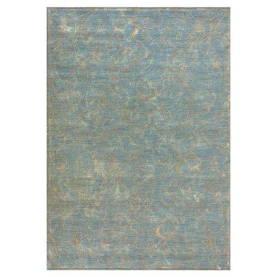 Ambrose Blue Rug Rug Size: Round 7'7