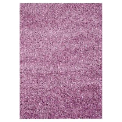 Hera Shag Hand-Tufted Purple Area Rug Rug Size: 5 x 76