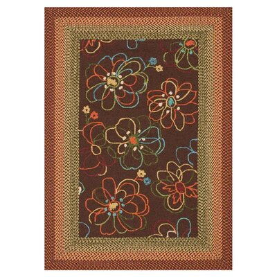 Zamora Brown Outdoor Rug Rug Size: 36 x 56