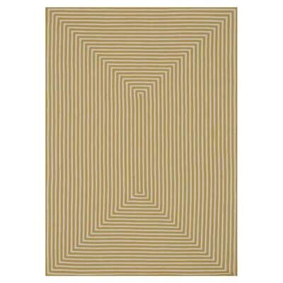In/Out Hand-Woven Yellow Area Rug Rug Size: Round 710