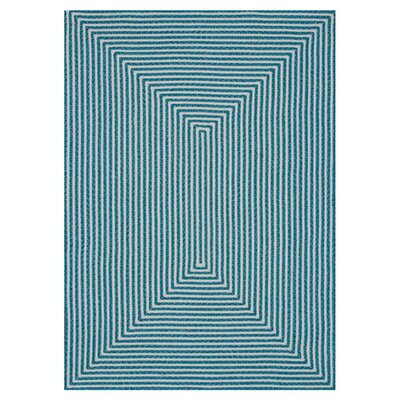 Gout Hand-Braided Blue Indoor/Outdoor Area Rug Rug Size: Round 710