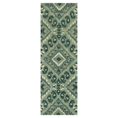 Leyda Hand-Tufted Gray/Denim Area Rug Rug Size: Runner 26 x 76