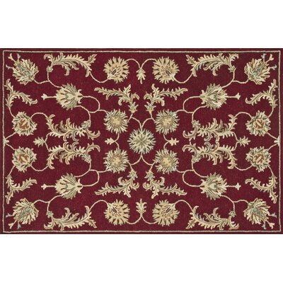 Fairfield Red Area Rug Rug Size: 76 x 96