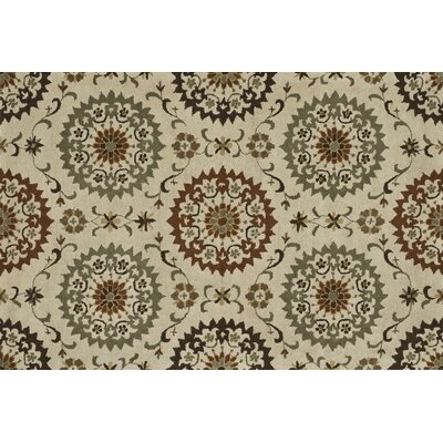 Fairfield Hand-Tufted Ivory/Sage Area Rug Rug Size: 5 x 76