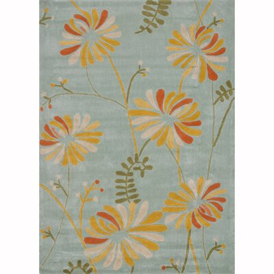 Grant Hand-Tufted Blue Area Rug Rug Size: 5' x 7'