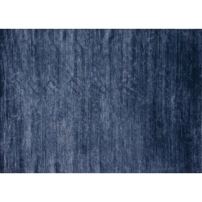 Hively Hand-Knotted Bluestone Area Rug Rug Size: Rectangle 56 x 86