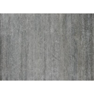Hively Hand-Knotted Gray Area Rug Rug Size: Rectangle 96 x 136
