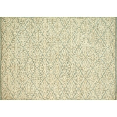 Claussen Hand-Knotted Slate/Ivory Area Rug Rug Size: Rectangle 12 x 15