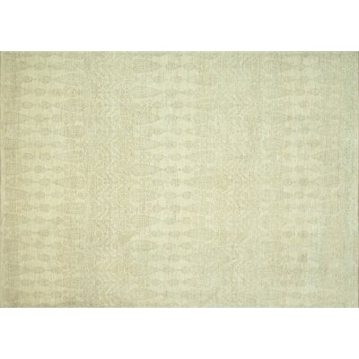 Kennith Hand-Knotted Ivory Area Rug Rug Size: Rectangle 56 x 86