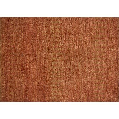 Kennith Hand-Knotted Paprika Area Rug Rug Size: Rectangle 4 x 6