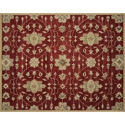 Fairfield Hand-Tufted Red Area Rug