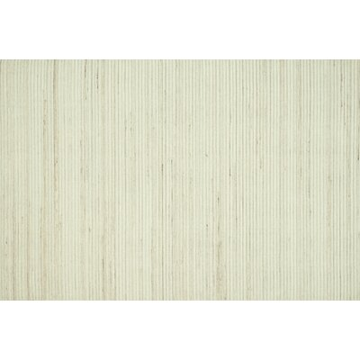 Souvenance Ivory Solid Area Rug Rug Size: Rectangle 76 x 96