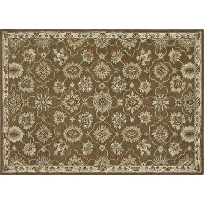 Fairfield Hand-Tufted Brown/Ivory Area Rug Rug Size: 76 x 96