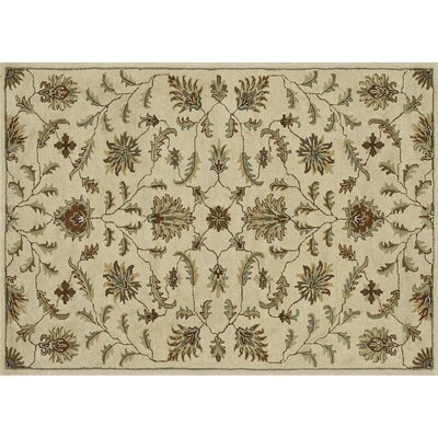Fairfield Hand-Tufted Ivory Area Rug Rug Size: 7'6