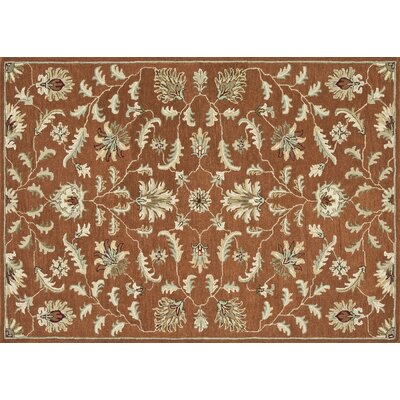 Fairfield Hand-Tufted Rust Area Rug Rug Size: 76 x 96