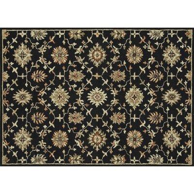 Fairfield Hand-Tufted Black Area Rug Rug Size: 76 x 96