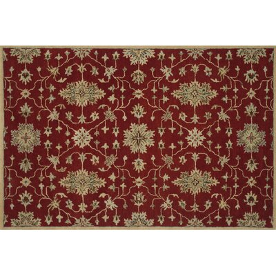 Fairfield Hand-Tufted Red Area Rug Rug Size: 5 x 76