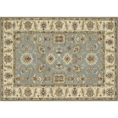 Fairfield Hand-Tufted Slate/Cream Area Rug Rug Size: 76 x 96