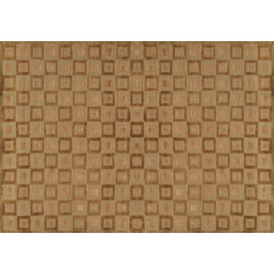 Floyd Hand Knotted Wool Carmel Area Rug Rug Size: 79 x 99
