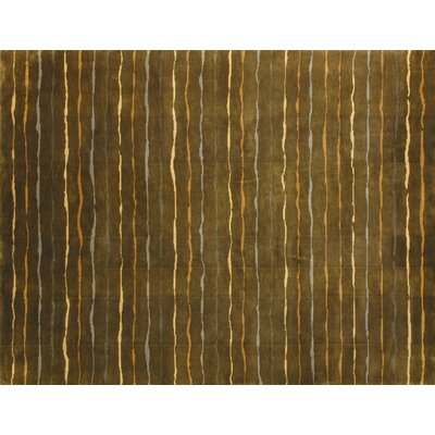 Floyd Hand-Tufted Brown/Tan Area Rug Rug Size: 79 x 99