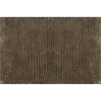 Electra Hand-Knotted Brown Area Rug Rug Size: 79 x 99