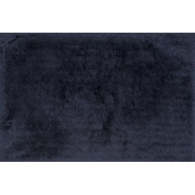 Allure Shag Hand-Tufted Aubergine Area Rug Rug Size: Rectangle 36 x 56
