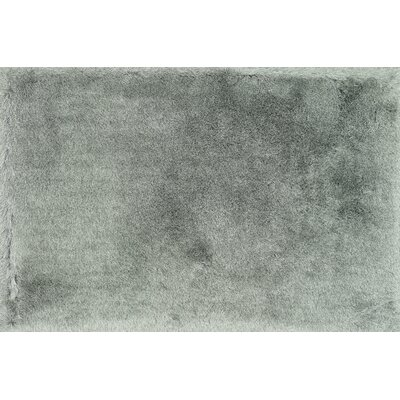 Allure Shag Hand-Tufted Platinum Area Rug Rug Size: Rectangle 36 x 56