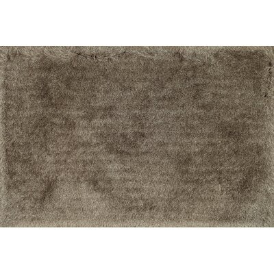 Hersi Hand-Tufted Taupe Area Rug Rug Size: Rectangle 76 x 96