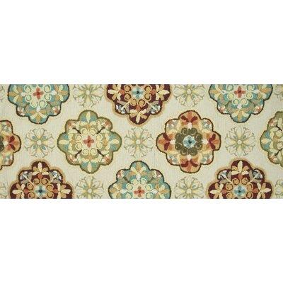 Olivia Hand-Woven Ivory/Sage Area Rug Rug Size: 2 x 5